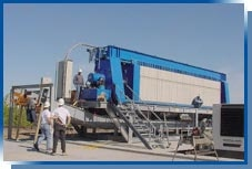 Large dewatering press